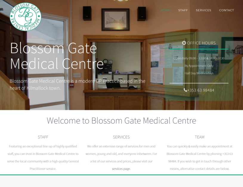 doctor website design